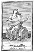 Westerhout Framed Prints - Guitar, 1723 Framed Print by Granger