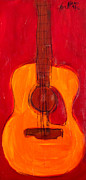 Guitars Paintings - Guitar 2 by Karl Haglund