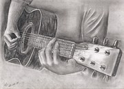 Photo Drawings - Guitar by Ahv