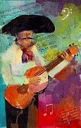 Musicians Mixed Media - Guitar Amigo by Arline Wagner