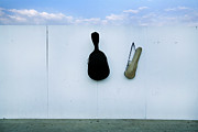 Surrounding Wall Prints - Guitar And Violin Case In Plaza Garibaldi In Df. Print by 4 Eyes Photography