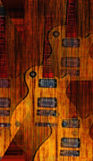 Fender Strat Digital Art - Guitar Army by Bill Cannon