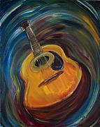 Acoustic Guitar Paintings - Guitar by Clemens Greis