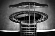 Antique Photo Originals - Guitar close up by Svetlana Sewell