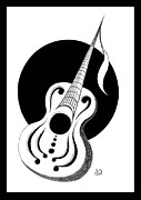 Erla Alberts Metal Prints - Guitar Metal Print by Erla Alberts