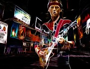  Digital Art Paintings - Guitar Hero by Stefan Kuhn
