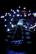 Guitar Photographs Posters - Guitar in Light 2 Poster by Jeff Bastien
