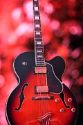 Electric Guitar Photos - Guitar in Red by Sophie Vigneault