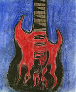 Music Pastels Metal Prints - Guitar IV Metal Print by Jeremy and Art with a Heart In Healthcare