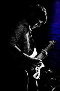 Guitar Man In Blue Print by Meirion Matthias
