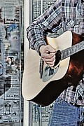 Guitar Art Prints Prints - Guitar Man Print by Rhonda Kretzer