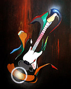 Guitar Melody Print by Peter Maricq