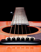 Frets Digital Art Prints - Guitar Orange 19 Print by Andee Photography