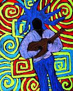 Music Paintings - Guitar Solo by Wayne Potrafka