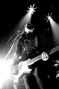 Mcr Greeting Cards Prints - Guitar Stance in Black and White Print by Christopher  Chouinard