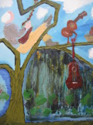 Guitar Painting Originals - Guitar Tree by Antonio Raul