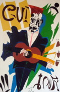 Guitar Player Painting Originals - Guitar by Troy Thomas