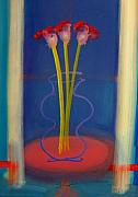 Guitar Painting Originals - Guitar Vase by Charles Stuart
