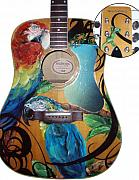 Buffet Originals - Guitar with Parrots by Kaley LaRose