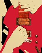 Morph Prints - Guitarist Hands Print by Malik  Church