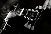 Steel Photo Prints - Guitarist Print by Stylianos Kleanthous