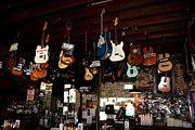 Signed Digital Art Posters - Guitars and Bars Poster by Suzanne  McClain