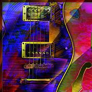 Strings Digital Art Posters - Guitars Poster by Barbara Berney