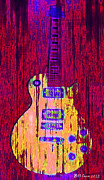 Hippie Prints - Guitart Print by Bill Cannon