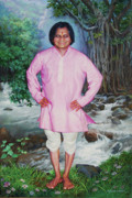 Baba Paintings - Gulab Baba by Milind Shimpi
