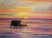 Serenity Paintings - Gulf Coast Fishing Shack by Susan Kubes