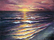 Gulf Of Mexico Painting Originals - Gulf Coast Sunset by Deborah Smith