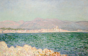 Impressionism Landscape Framed Prints - Gulf of Antibes Framed Print by Claude Monet