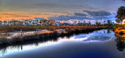 Orange Digital Art Originals - Gulf Shores from the Bayou by Michael Thomas