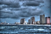 Orange Digital Art Originals - Gulf Shores From the Pier by Michael Thomas