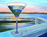 Olives Framed Prints - Gulfstream Cafe Martini Sunset Framed Print by Keith Wilkie