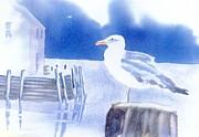 Gull Watch Print by Joseph Gallant