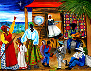 Women Children Painting Framed Prints - Gullah Christmas Framed Print by Diane Britton Dunham