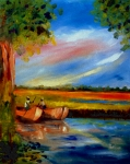 South Carolina Paintings - Gullah Lowcountry SC by Phil Burton