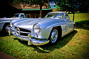 Mercedes Prints - Gullwing Print by Ches Black