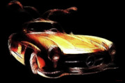 Import Cars Digital Art Prints - Gullwing Print by Wingsdomain Art and Photography
