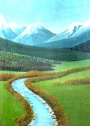 Kashmir Painting Originals - Gulmarg by HC Kandoth