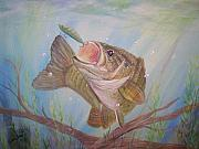 Fish Underwater Paintings - Gulp by Wendy Smith
