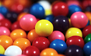 Kitchen Photos Prints - Gumballs Print by John Rizzuto