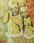 African Art Portrait Paintings - Gumbo by Kristin Guttridge