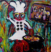 Gumbo Paintings - Gumbo Ya Ya by Sharon Furrate