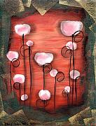 Abstract Hearts Paintings - Gumdrops by  Abril Andrade Griffith