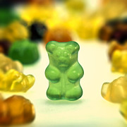 Gummy Framed Prints - Gummi Bear Framed Print by Joana Kruse