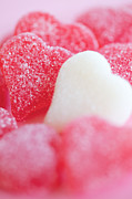 Gummy Candy Prints - Gummi Heart Print by Kim Fearheiley