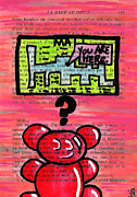 Bright Colors Drawings Metal Prints - Gummy Bears Cant Read Metal Print by Jera Sky