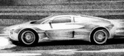 Exotic Drawings Metal Prints - Gumpert Tornante Metal Print by Lyle Brown